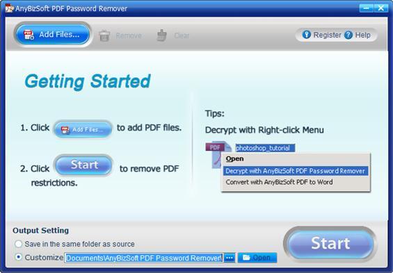 AnybizSoft PDF Password Remover