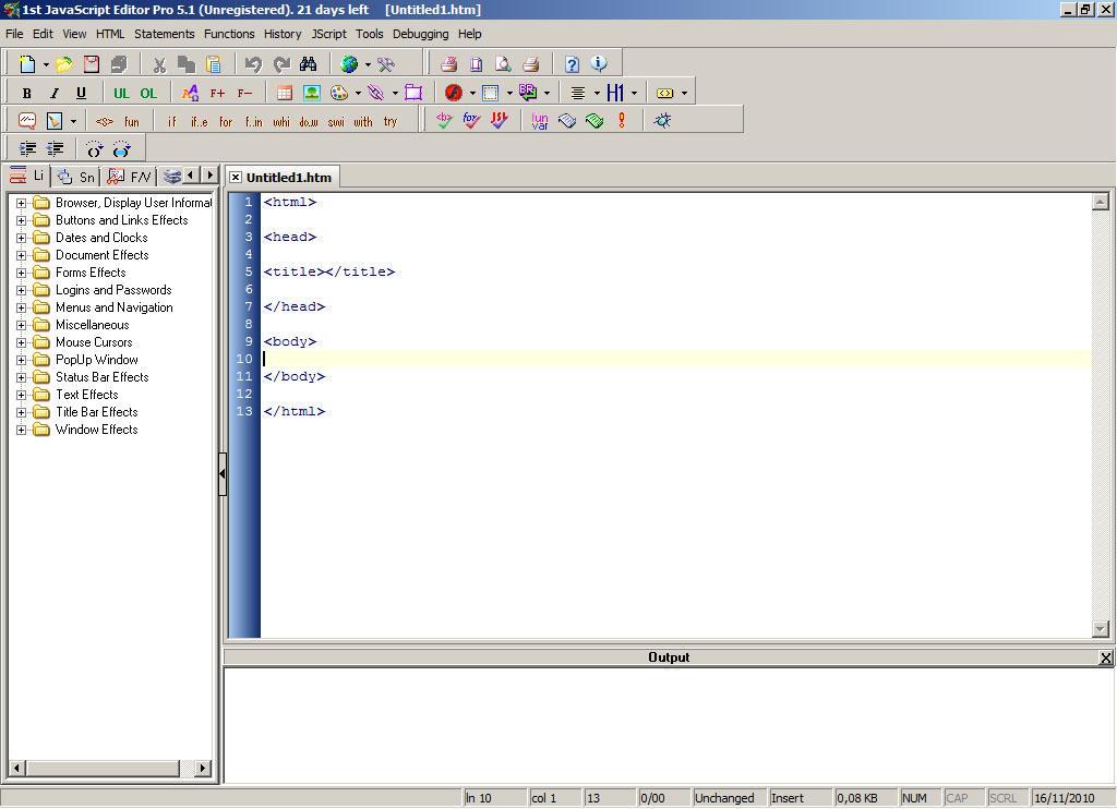 1st JavaScript Editor